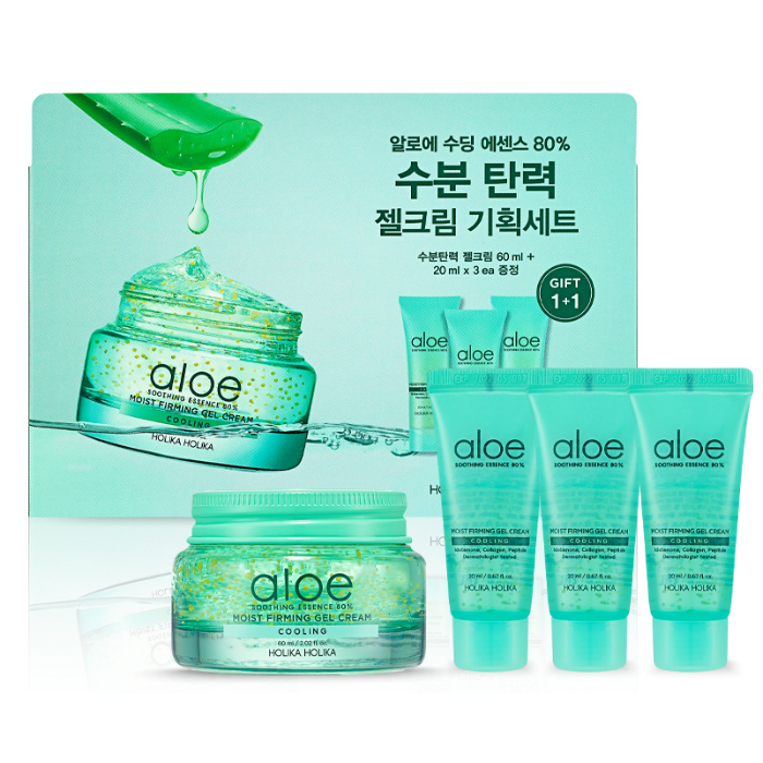 Holika Holika Aloe Soothing Essence 80% Moist Firming Gel Cream Set